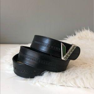Versace Versus SZ XS-S Vintage 90s Leather Belt